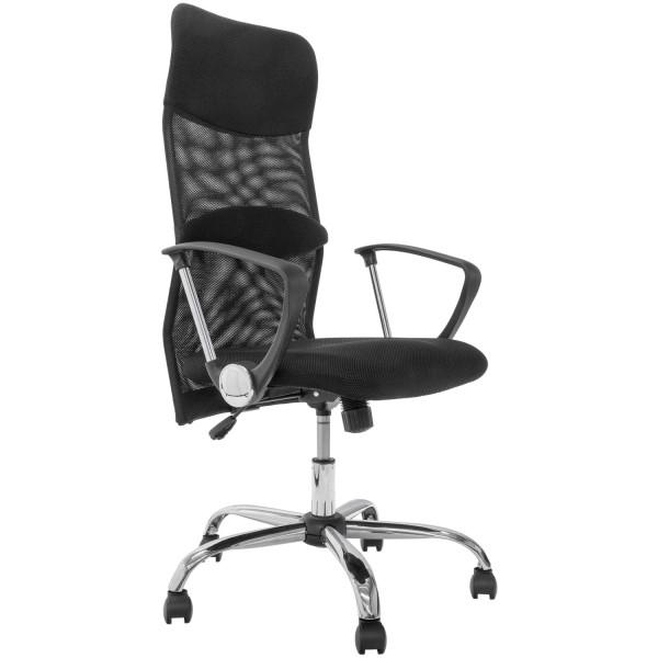 Bürostuhl Chefsessel Drehstuhl in Mesh-Design schwarz