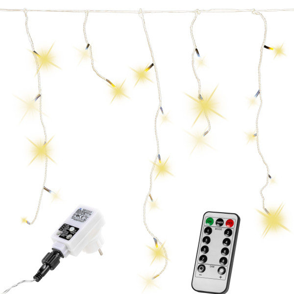 VOLTRONIC® 400 LED Lichterkette Eisregen, warm-weiß, FB