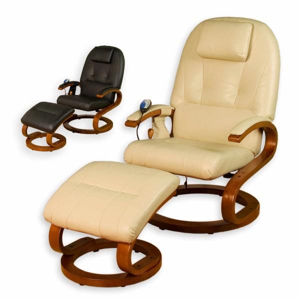 STILISTA® Massagesessel, Fernsehsessel mit Heizung, Beige