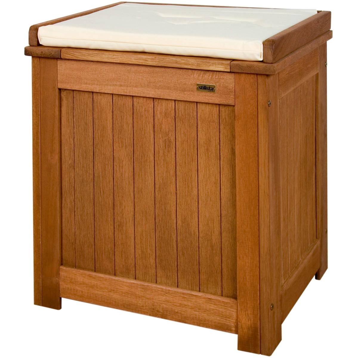 stilista gartenbox inkl kissen natur 43 x 55 x 62 cm gartenm bel garten. Black Bedroom Furniture Sets. Home Design Ideas