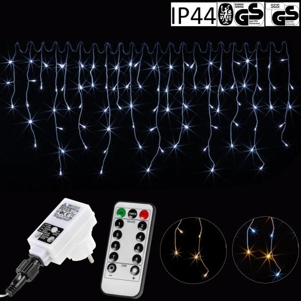 VOLTRONIC® 400 LED Lichterkette Eisregen, kaltweiß, FB