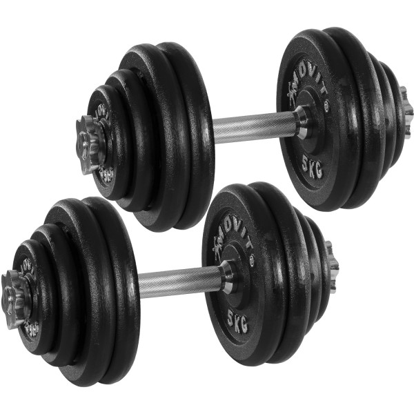 MOVIT® 2x 30 kg Hantelset, Gusseisen, 60 kg Kurzhanteln