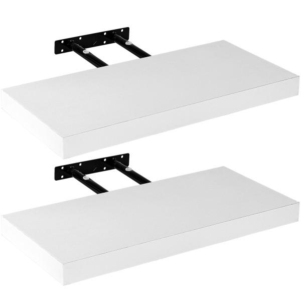 """STILISTA® Wandboard 2er Set """"Volato"""" Länge 60 cm Weiß"""