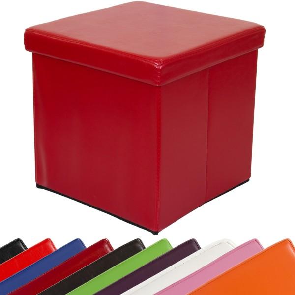 STILISTA® Faltbox, Sitzhocker, Sitzwürfel, Dunkelrot
