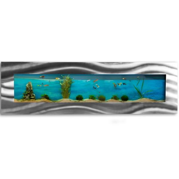 Wandaquarium, Aquarium Komplett-Set, 1525x430x110 mm