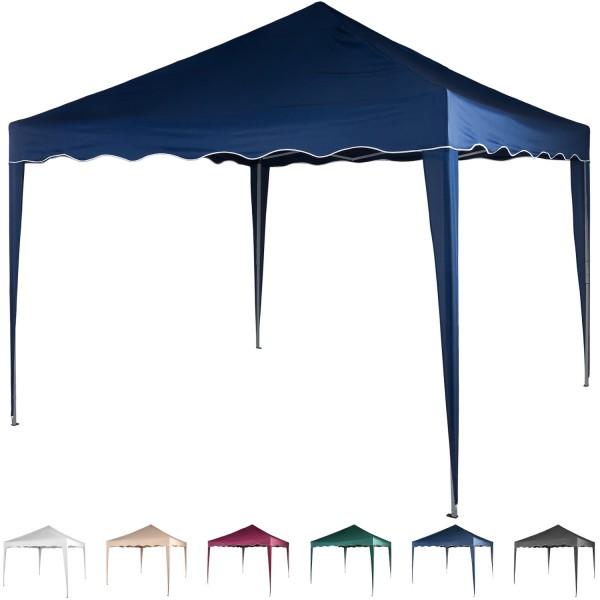 3x3 Faltpavillon Stahl Blau