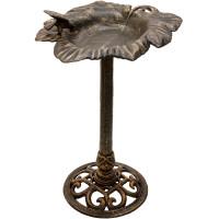 Nostalgische Vogeltränke Vogelbad Gusseisen bronze Ø 48 cm