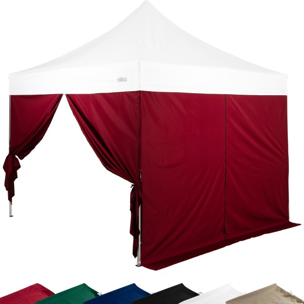 STILISTA® Seitenteile RV Pavillon 2er Set burgund, 3x3 m