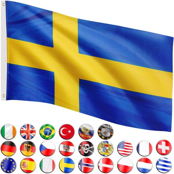 FLAGMASTER® Fahne Schweden Flagge