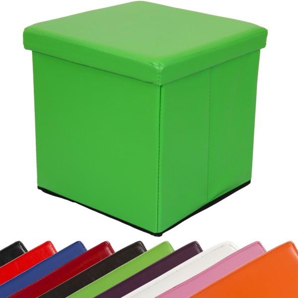 STILISTA® Faltbox, Sitzhocker, Sitzwürfel, Grün