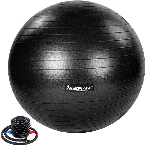 MOVIT® Gymnastikball mit Fußpumpe, 85 cm, schwarz