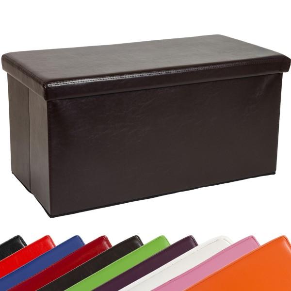 STILISTA® Bigbox, Faltbox, Sitzhocker, Sitzwürfel, Braun
