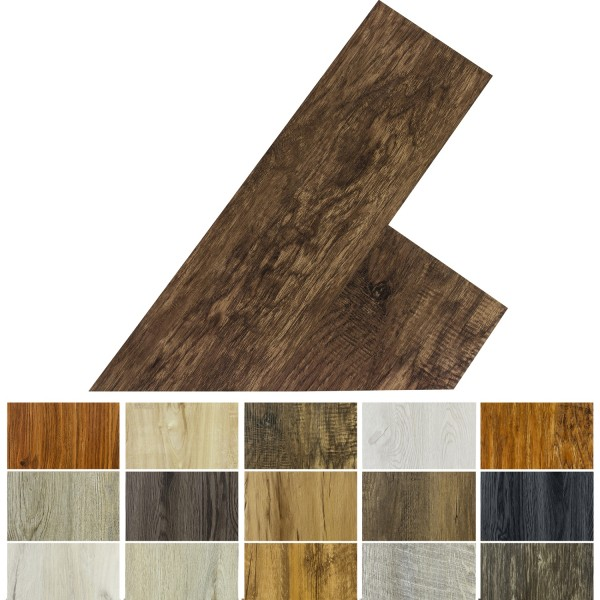 STILISTA® 5,07m² Vinylboden, Walnuss rustikal dunkelbraun