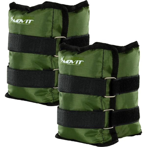 MOVIT® Gewichtsmanschetten, 2x 2,5 kg Laufgewichte oliv