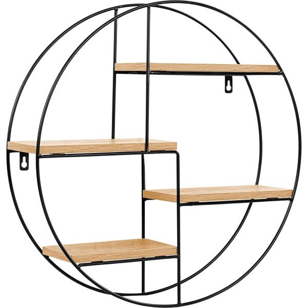 STILISTA® Design Regal rund Holz hell