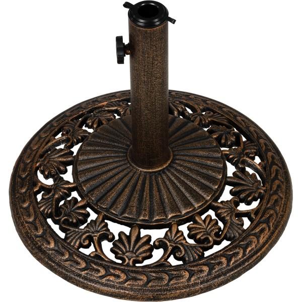 Sonnenschirmständer, Schirmständer Gusseisen bronze