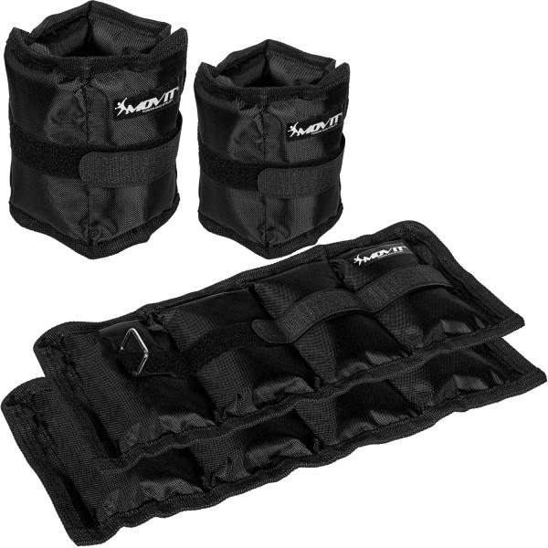 MOVIT® Gewichtsmanschetten, 4er Set, schwarz