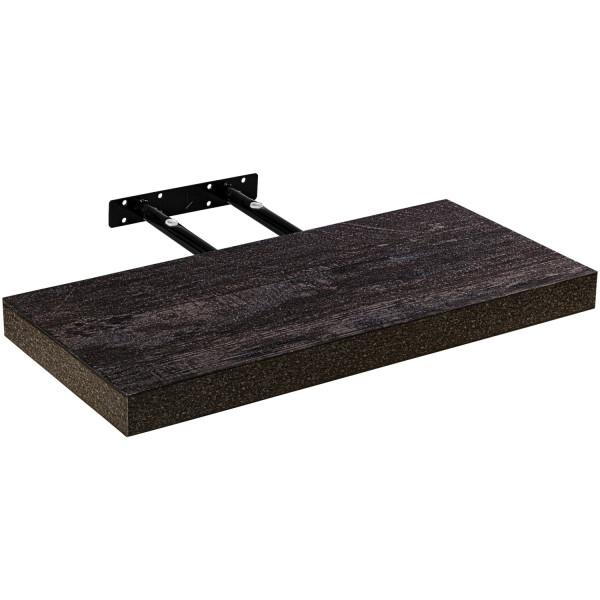 "STILISTA® Wandboard ""Volato""Länge 100cm,Holz dunkel Rustikal"
