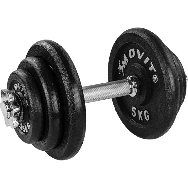 MOVIT® 20 kg Profi Kurzhantel Set, Gusseisen, Hantel