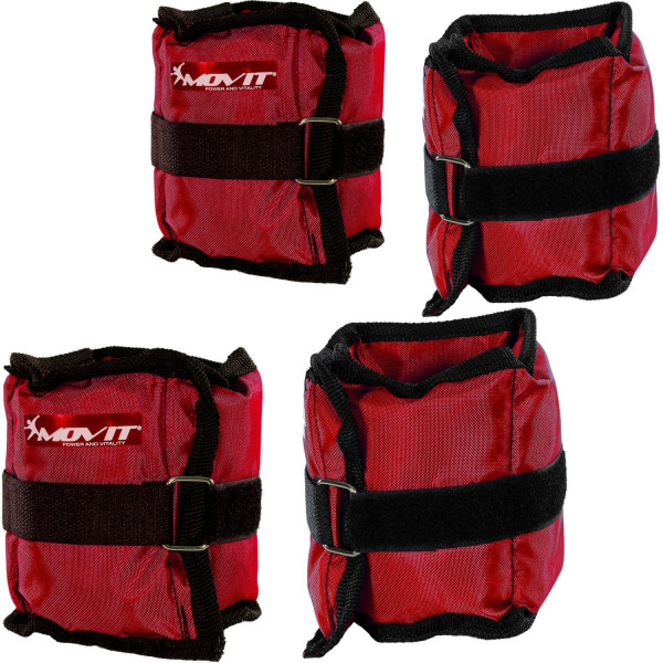 MOVIT® Gewichtsmanschetten, 4er Set, rot