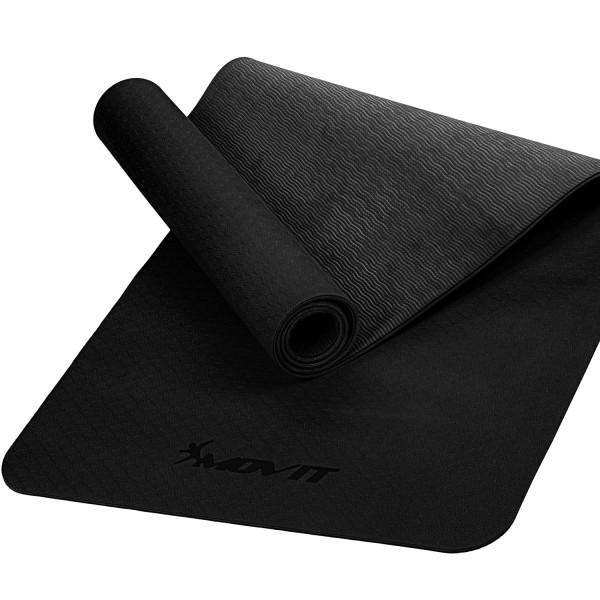 MOVIT® TPE Gymnastikmatte, 190x100x0,6cm, schwarz