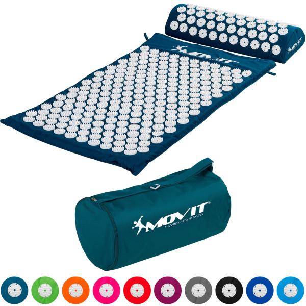 MOVIT® Akupressurmatte mit Kissen 75x44, petrol