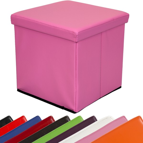 STILISTA® Faltbox, Sitzhocker, Sitzwürfel, Pink