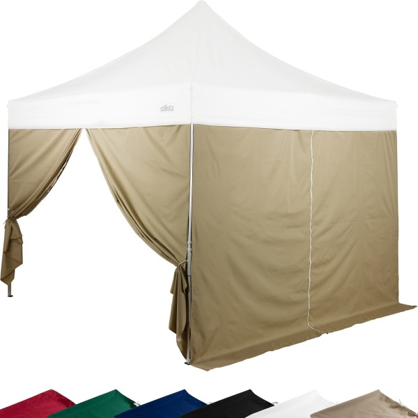 STILISTA® Seitenteile RV Pavillon 2er Set champagner, 3x3 m