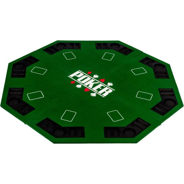 Pokerauflage 8-eckig 122cm, Farbe grün