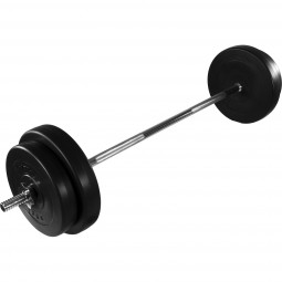 MOVIT® Langhantel Set 30kg Hantel Langhantelstange Gewichte