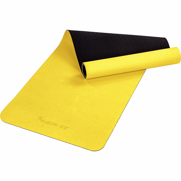 MOVIT® TPE Gymnastikmatte, 190x60x0,6cm, gelb