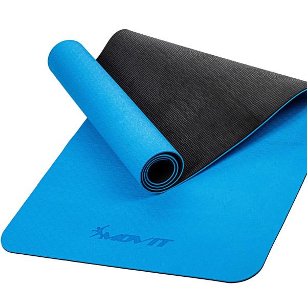 MOVIT® TPE Gymnastikmatte, 190x100x0,6cm, hellblau