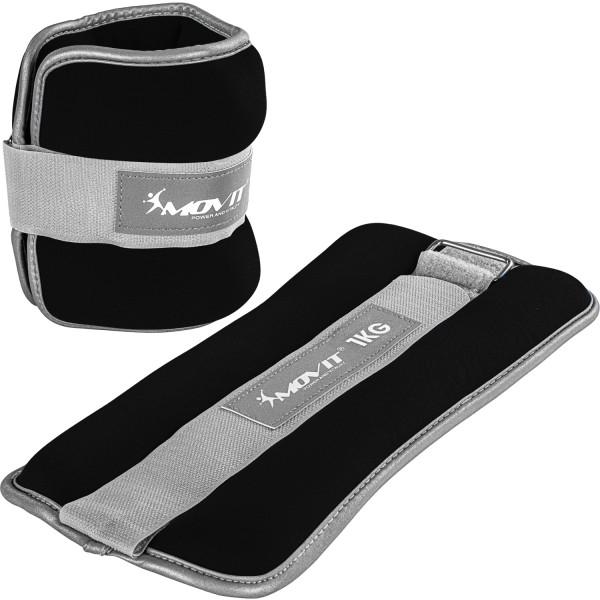 MOVIT® Neopren Gewichtsmanschetten 2x1 kg schwarz reflex