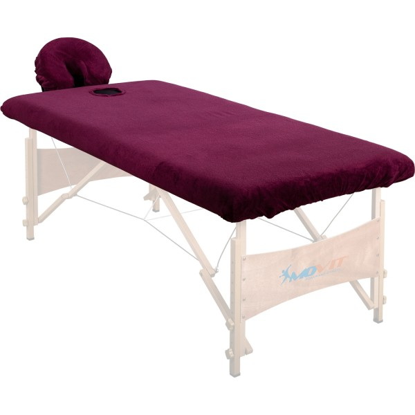 Spannbezug, Überzug für Massageliege und Kopfstütze burgund