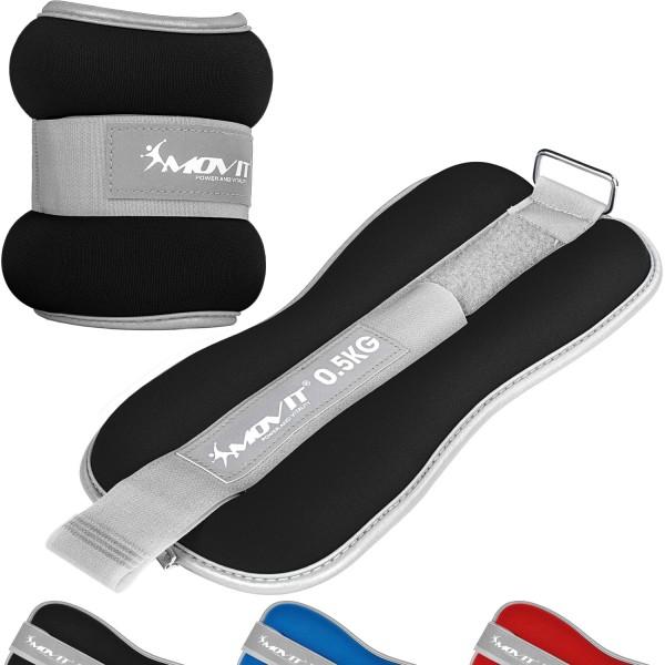 MOVIT® Neopren Gewichtsmanschetten 2x0,5 kg schwarz Reflex F