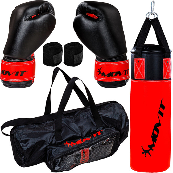 MOVIT® Boxsack Set für Kinder rot/schwarz