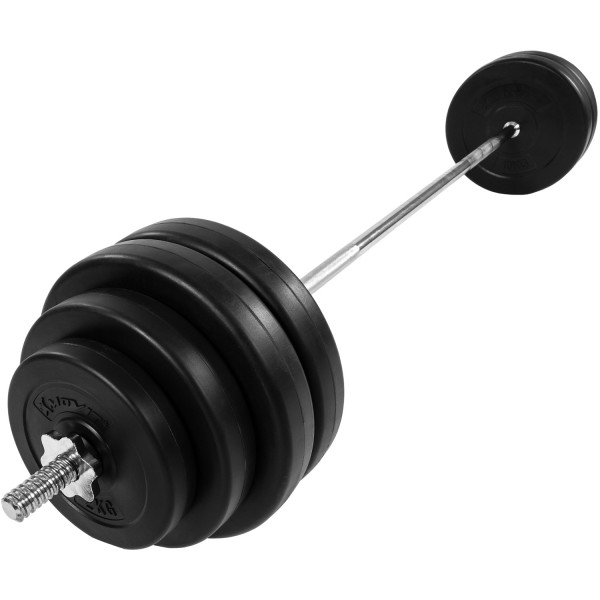 MOVIT® Langhantel Set 60,5kg Hantel Langhantelstange Gewicht