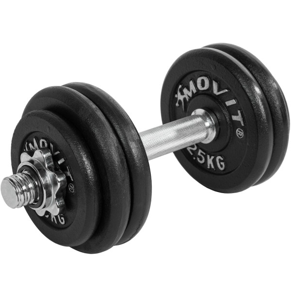 MOVIT® 15 kg Profi Kurzhantel Set, Gusseisen, Hantel