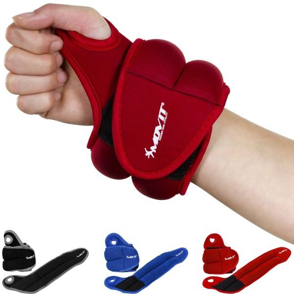 MOVIT® 1,0 kg Neopren Gewichtsmanschetten Laufgewichte rot