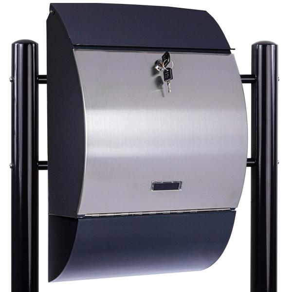 STILISTA® Standbriefkasten Stahl MIX mit Anthrazit Beinen 3