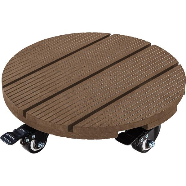 Stilista® WPC Pflanzenroller, Rund, Holz