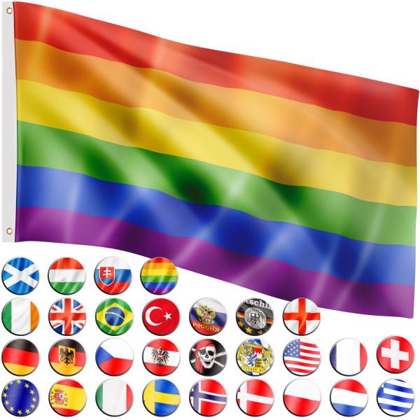 FLAGMASTER® Fahne Rainbow Flagge