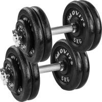MOVIT® 2x 25 kg Profi Kurzhantel Set, 50 kg